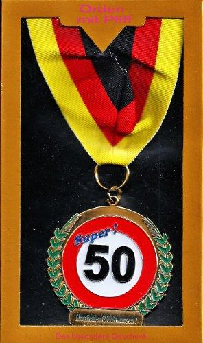 Medaille \'Super! 50. Herzlichen Glückwunsch\'