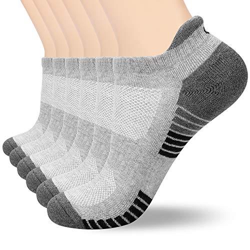 anqier Sneaker Socken Herren Damen Baumwolle Kurze Sportsocken Rutschfest Low-cut Laufsocken (6 Paar)