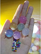 1000 Pieces (3 - 3.5mm) GLITTERING Pearly-luster Crystal Soil Hydro gel Water Beads, Water Growing Jelly Balls, Vase Filler for Wedding, Home Décor, Home Flower Decoration, Party Decoration Kids Toy Planting Crystal Soil Mud etc…