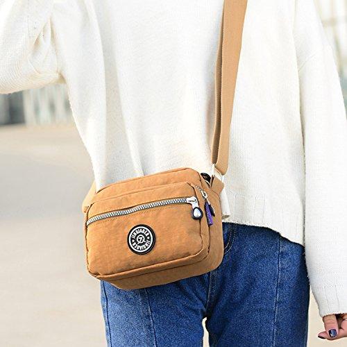 Outreo Schultertasche Designer Umhängetasche Damen Messenger Bag Kleine Reisetasche Wasserdicht Kuriertasche Mode Leichter Taschen für Mädchen Rot 3