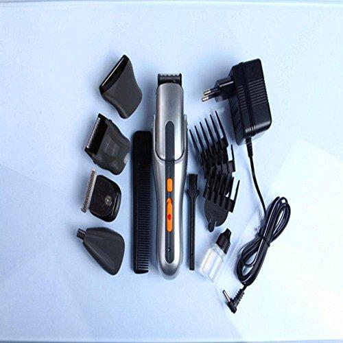 Männer und Frauen allgemeine multifunktionale Komfort Reinigung Friseur Cutter Elektro-Schere Rasierer Nase Haar Trimmer Zyklus Charge grau 18 * 22.5 * 7cm