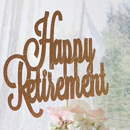 e Farbe Retirement Cake Topper Retirement Dekorationen Glitzer Cake Topper Job Party Corporation Party M?nnlich Weiblich ()
