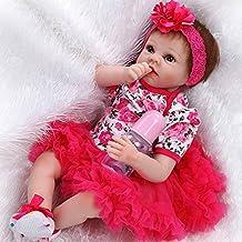 "22"" Neonata Babbo Natale Lifelike Silicone Vinile Reborn Baby Neonato Bebé Reborn Baby Doll 55cm"