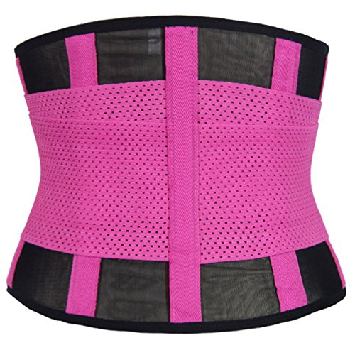Sport Waist Trainer in 5 verschiedenen Farben Damen-Taillenformer Korsett Corset Power Gürtel Fitnessgürtel Bauch weg Schwitzgürtel Pink
