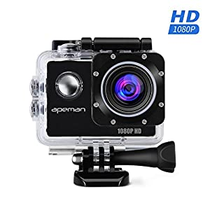 APEMAN Action Camera Full HD 1080P Waterproof Action Cam Waterproof up to 30m 170 Ultra Wide Angle Lens Sport Camera With Mounting Accessories Kit