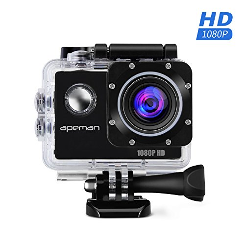 APEMAN-Sports-Action-Cam-wasserdichte-Camera-Helmkamera-Full-HD-1080p-170--Weitwinkel-mit-Zubehr-Kits