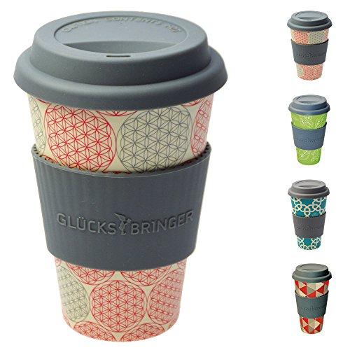Taza amuleto de café para llevar de ebos hecha de bambú | Taza de ca