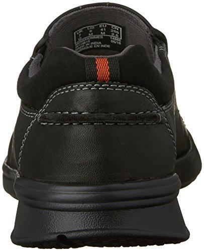 Clarks Mens Cotrell Step Slip-On Loafer Black Oily