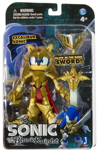 Sonic the Hedgehog 12,7cm Excalibur Sonic Figur mit Glow in The Dark Sword