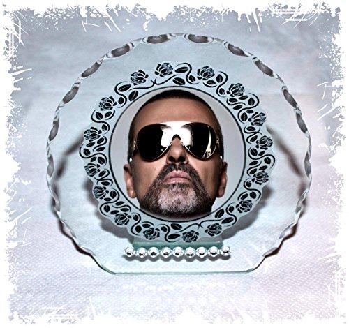 GEORGE MICHAEL Freiheit Rundschliff Glas Plaque Geschenk mit Limited Edition