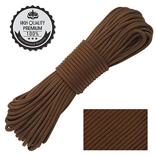Nasharia Paracord 550 Professionelles Nylon Outdoor Seil 31m lang 4mm dick - Kernmantel Seil aus 9 Kernfäden aus reißfestem Nylon Fallschirmschnur 250KG Bruchfestigkeit - 9 Schuppen