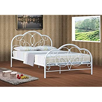 alexis classic 4ft6 double white metal bed frame bedstead