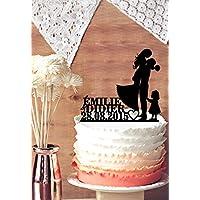 Personalizzabile con nome e data, motivo: torta
