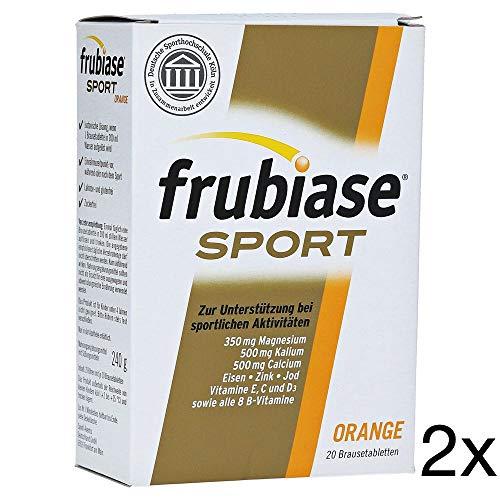 Frubiase Sport Orange Spar-Set 2x240g (40 BTA). Zur Unterstützung bei sportlichen Aktivitäten. In Zusammenarbeit mit der deutschen Sporthochschule Köln entwickelt. Laktose-, Gluten- und Zuckerfrei