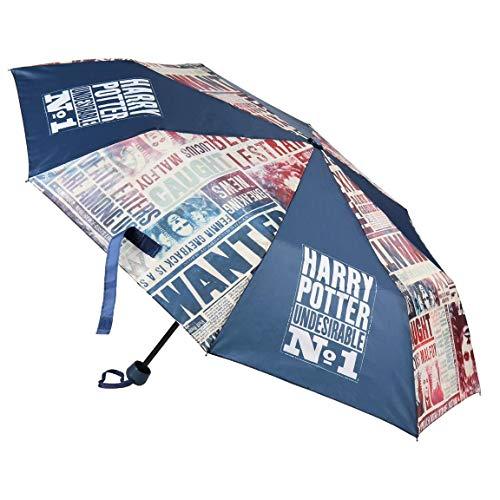 Harry Potter Paraguas Plegable Azul Marino Undesirable nº 1 - Cerdá