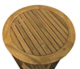 colourliving® Occasional Table Solid Wood Acacia Wood Garden Table Round 60 cm