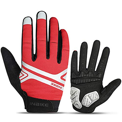 HSENA Touch Screen Cycling Handschuhe Anti-Slip Wear Resistant Bike Handschuhe Windproof Shockproof Full Finger Bicycle Mittens für Männer Frauen