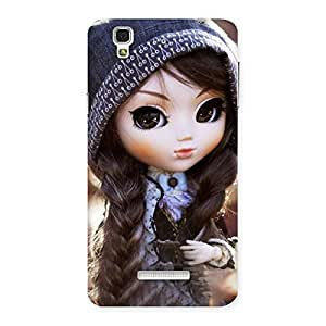 Stylish Cute Beautiful Doll Back Case Cover for Yu Yureka