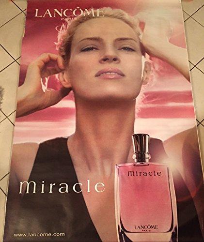 AFFICHE - LANCÔME  Miracle - Uma Thurman - Parfum - 120x175 cm - AFFICHE / POSTER