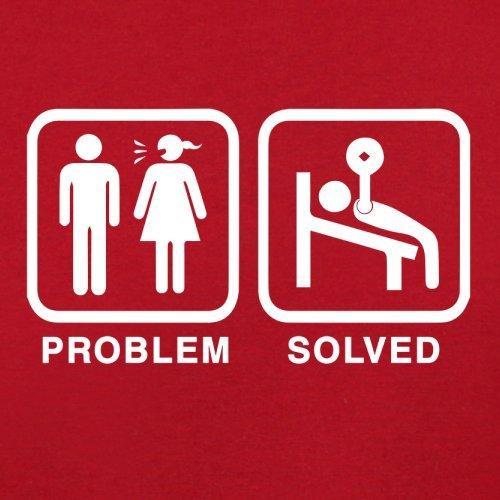 Problem gelöst - Fitnessstudio - Herren T-Shirt - 13 Farben Rot
