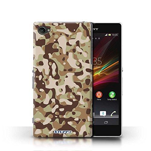 Kobalt® Imprimé Etui / Coque pour Sony Xperia Z1 Compact / Vert 4 conception / Série Armée/Camouflage Marron 3