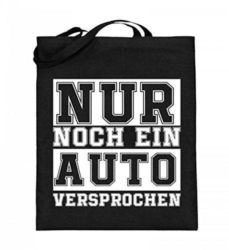 Hochwertiger Jutebeutel (mit langen Henkeln) - Nur noch ein Auto Schwarz
