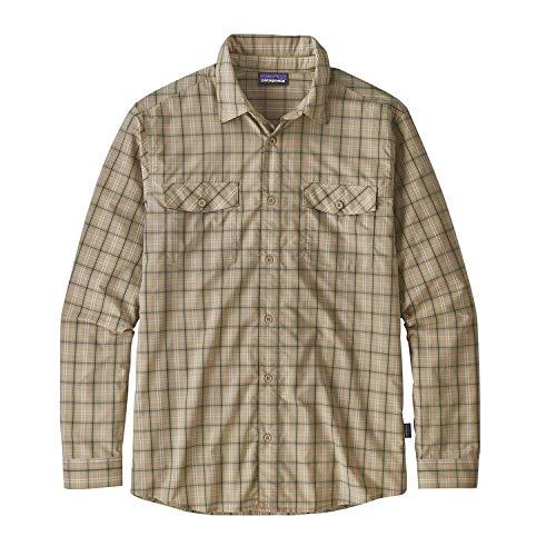 Patagonia M 'S L/S High Moss Shirt, Herren S Summit EL Cap Khaki -