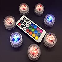 Yeshi Submersible Waterproof 3 LED Candle Light Lamp Remote Control for Vase Night Light Wedding Party size Candle Light + Remote Control