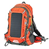EAQUASYS ECEEN SME-636 (Red), Solar Hiking Backpack with 10000 MaH Power BANK/2L Hydration Bag/6.5 W Panel
