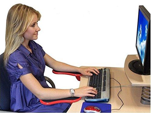 Car-Tuning24 53327561 ABS Gelenksstütze Armstütze Schreibtisch Unterarmstütze ergonomische Armauflage