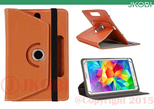 Jkobi 360* Rotating Front Back Tablet Book Flip Flap Case Cover Compatible For Samsung Galaxy Tab 3 Lite 7. 0 -Brown  available at amazon for Rs.230