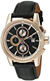 S.Coifman Men's Quartz Watch with Black Dial Chronograph Display and Black Leather Strap SC0257