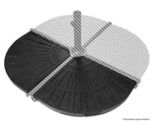 Ondis24 2 x Platten zum Beschweren für Kreuzständer Sonnenschirme je 12 kg schwarz