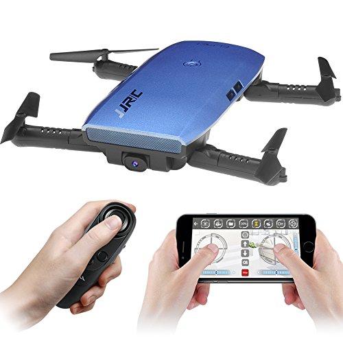 Usb-720p-kamera (JJR/C H47 Faltbare Selfie Drohne Kamera, RC Drohne mit Live Übertragung WIFI FPV Handy APP-Steuerung G-Sensor Steuerung, automatische Schwebe 3D Flip Stunt Headless Modus, geeignet für alle Stufen-Piloten, 720P HD Kamera, mit Transport Case, Schwarz/Blau)
