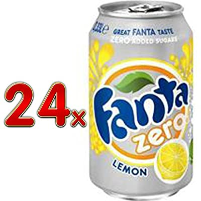 Fanta Lemon Zero 4 Pack á 6 x 0,33l eingeschweißt (24 Dosen Zitrone Zuckerfrei)