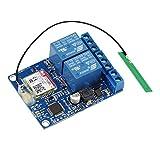 Aihasd Módulo de relé de 2 canal SMS GSM Control remoto Interruptores SIM800C STM32F103CBT6 para Bomba de oxígeno de efecto invernadero