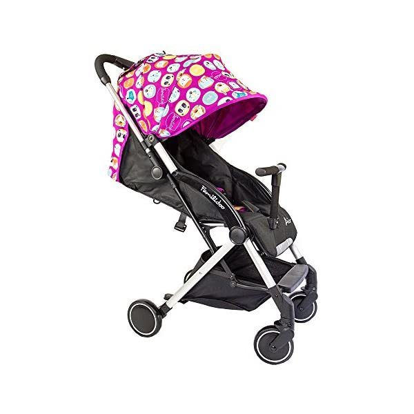 Familidoo Air Pushchair, Pink Purple Rabbit Familidoo Multi position adjustable backrest recline Detachable handle bar/bumper  Suitable from birth 1