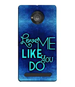 Snapdilla Designer Back Case Cover for YU Yunique (Dark Quotation English Nice Quality Text Caption Font)