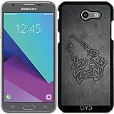Hülle für Samsung Galaxy J3 2017 (SM-J327) - Wolf Stahl Metallic Herren by Nina Baydur
