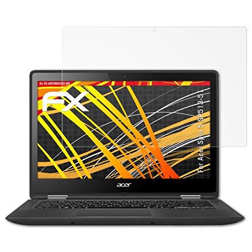 atFolix Schutzfolie kompatibel mit Acer Spin 5 SP513-51 Bildschirmschutzfolie, HD-Entspiegelung FX Folie (2X)