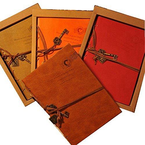 Frimateland (TM) Classic Retrò Vintage Stile Scrittura Gazzetta Diario Pelle Sintetica Rilegato Quaderno da Viaggio Notepad Degli Appunti Regalo per gli Studenti dei Bambini