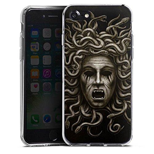 Apple iPhone X Silikon Hülle Case Schutzhülle Medusa Frau Schlangen Silikon Case transparent