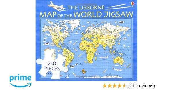 The Usborne Map of the World Jigsaw (Usborne jigsaws ...