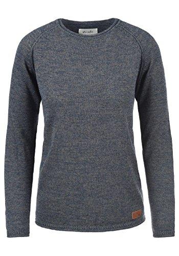 BlendShe Daniela Damen Strickpullover Feinstrick Pullover Mit Rundhals Und Melierung, Größe:S, Farbe:Ensign Blue (70260)