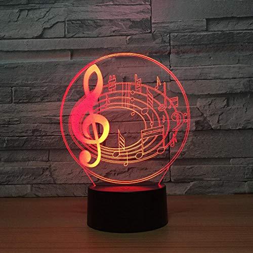 tische Nachtlicht Musik Visualisierung Amazing Optische Täuschung Touch Control Light 7 Farben Ändern Schreibtischlampen Für Kinderzimmer Decoration ()