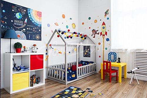 Imagen para cama montessori infantil casita. Color gris (190x135cm)