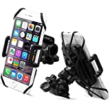 Bike Mount, Sahara Sailor Universal 360 Degree Rotating Bike Bicycle Phone Holder Cradle Clamp For IPhone 5/5S/6/6S Plus, Samsung Galaxy S7/S7 Edge/S6 Edge, All Devices 4 - 5.7' Wide