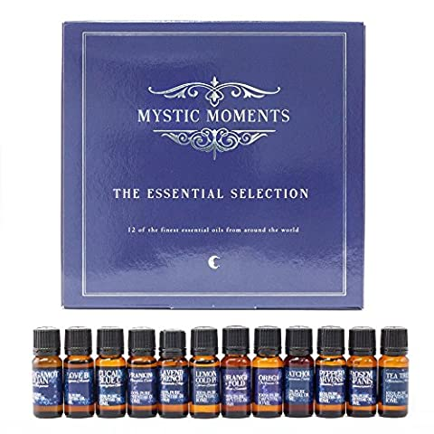 Mystic Moments | The Essential Selection | 12 x 10ml 100% Pure Essential Oils