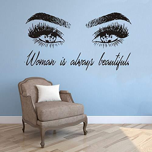 Wimpern Wandaufkleber Wandbild Poster Make Up Wandtattoos Mädchen Schönheitssalon Zitat Schlafzimmer Wohnkultur Augenbrauen Zimmer Dekorative 42X77CM