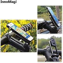 InnoMagi Soporte Movil Bicicleta Universal Rotación de 360°, Sostenedor Smartphone Bici y Bicicletas de Montañas MTB con 3M Adhesivo para iPhone 7 7plus 6 6S Plus 5S SE Samsung Galaxy S7 Edge S6 S5 Note 5 HTC LG